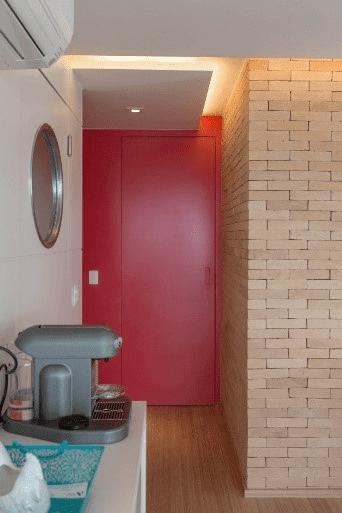Porta colorida vermelha