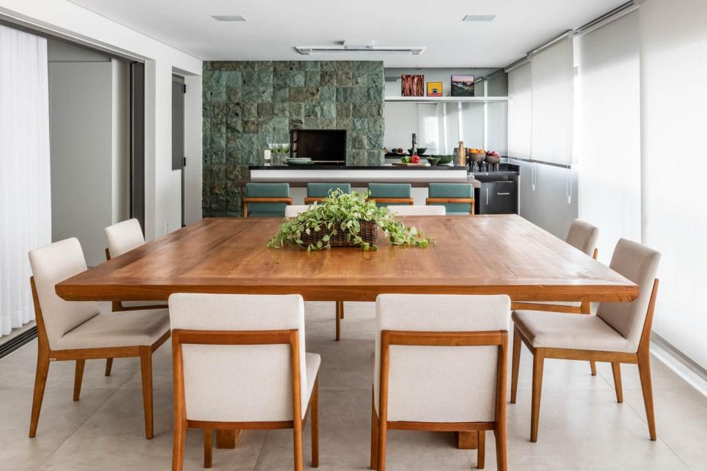 varanda gourmet como sala de jantar