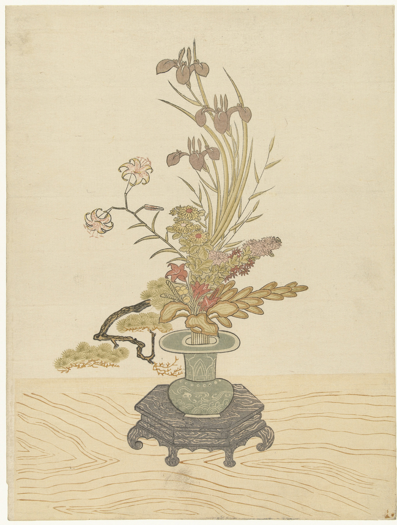 Desenho histórico de ikebana