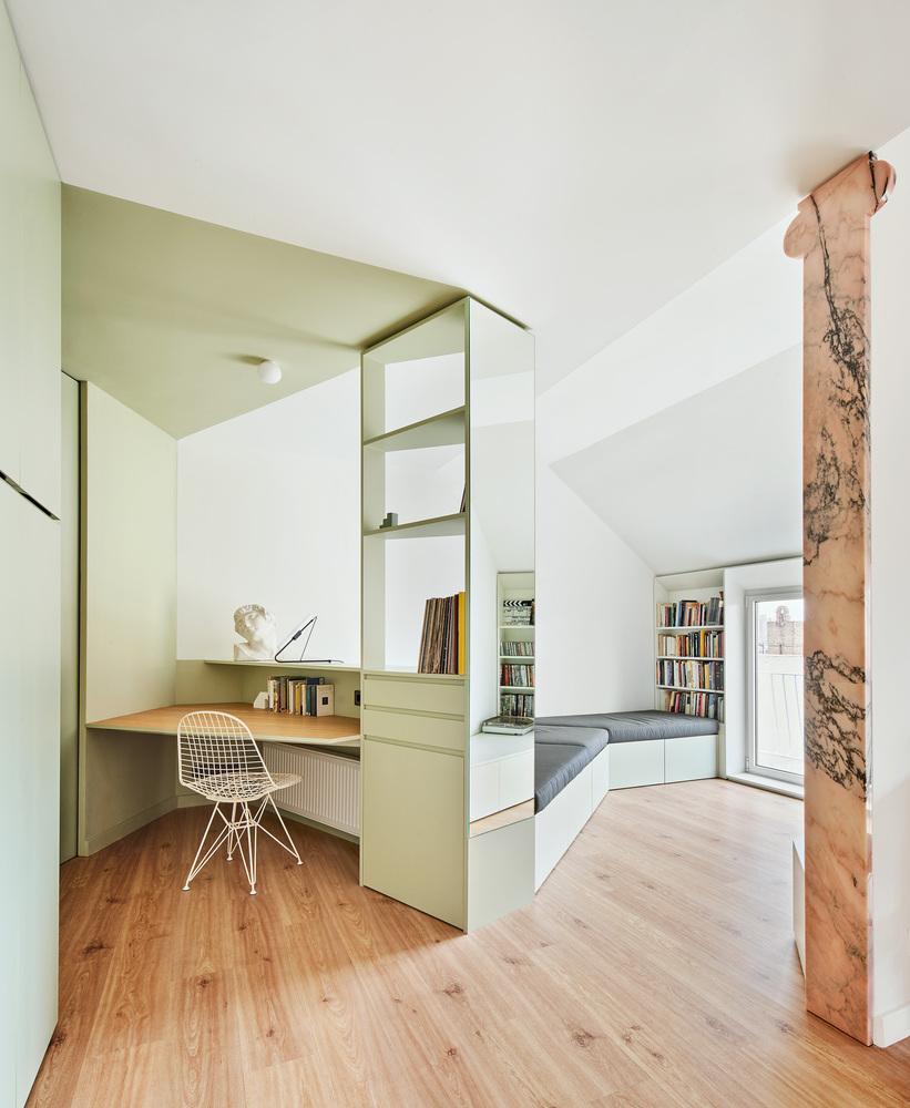 Tons pastel e minimalismo: confira o projeto deste apê de 60 m² na Espanha