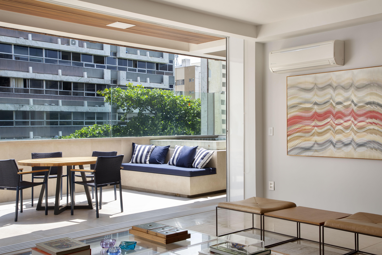 Varanda integrada à sala de estar