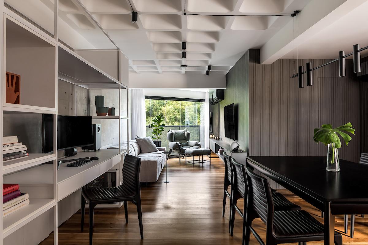 De dentro para fora: inspiração de apê de 80 m² é a natureza