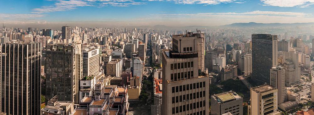 Foto panorâmica do skyline de São Paulo