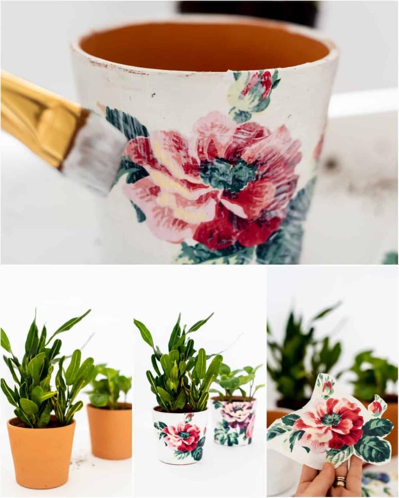 Passo a passo de vaso decorado com técnica de decoupage