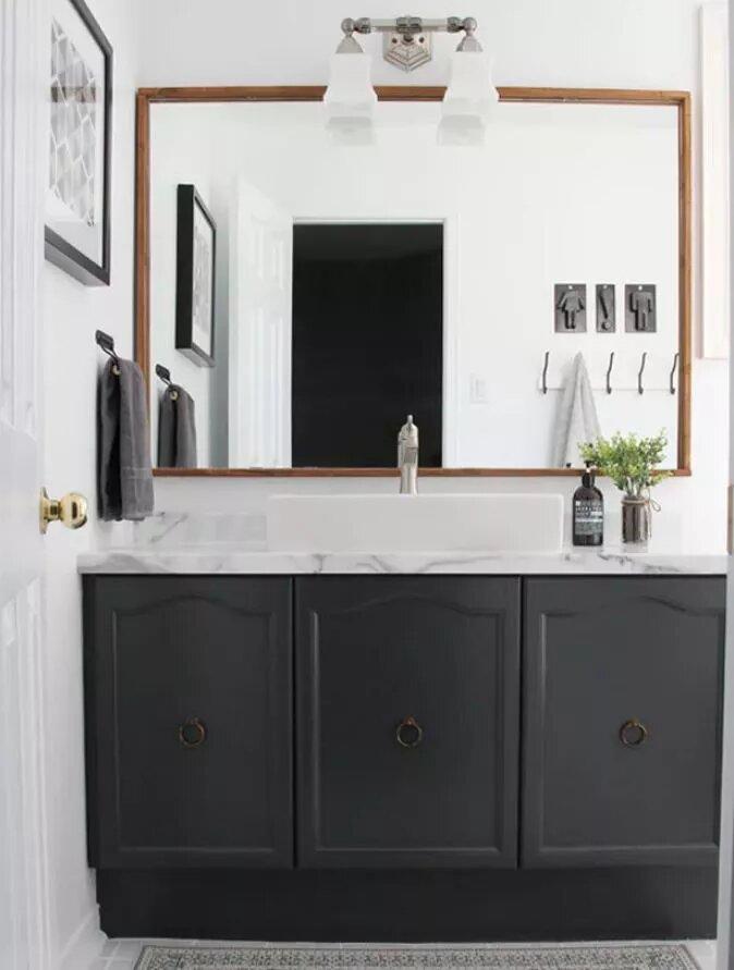 Inspirações decoração de banheiro em preto e branco