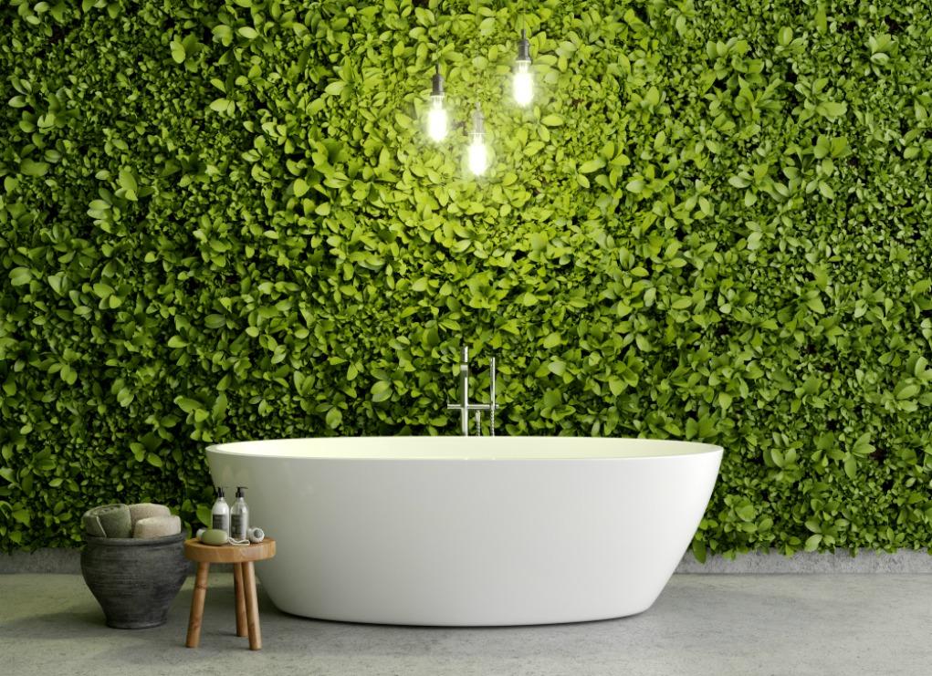 Como ter um jardim vertical no banheiro
