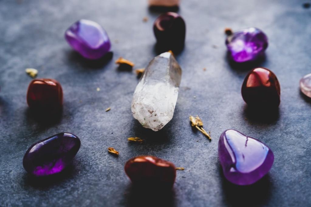 usando cristais e pedras na decoração