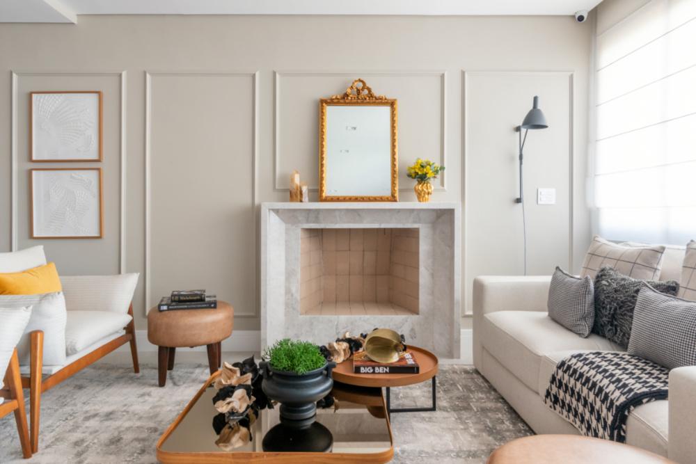 Apartamento de 190m² possui elementos modernos e clássicos