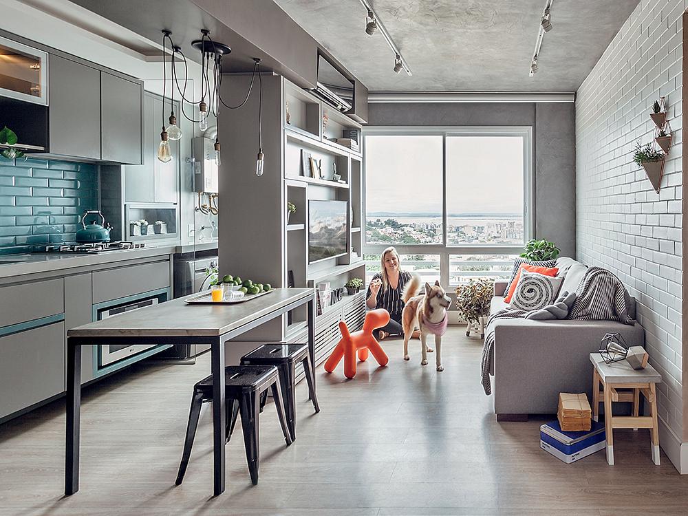 apartamento de 54 mc2b2 com dc3a9cor em estilo industrial1 Vision Art NEWS