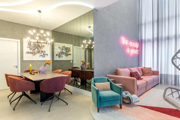 Apê de 125 m² é inspirado no Art Deco do filme O Grande Gatsby