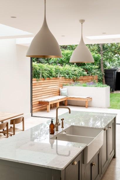 11 cozinha se abre para o jardim nesta casa em Vision Art NEWS