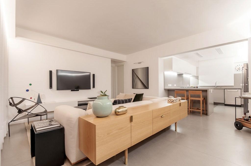 ambientes integrados com estetica minimalista e com tons claros casa.com estudio marion xavier 17 Vision Art NEWS