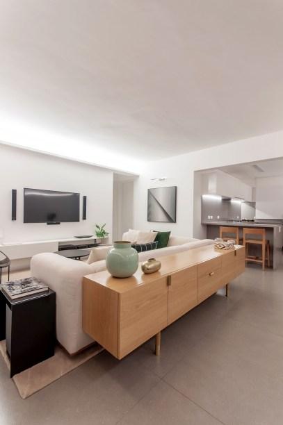 ambientes integrados com estetica minimalista e com tons claros casa.com estudio marion xavier 18 Vision Art NEWS