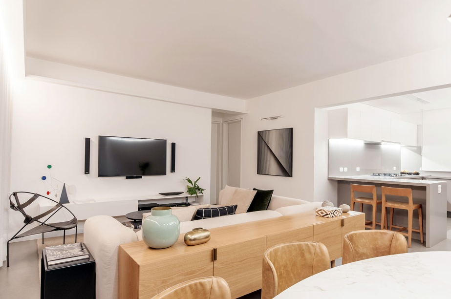 ambientes integrados com estetica minimalista e com tons claros casa.com estudio marion xavier 22 Vision Art NEWS