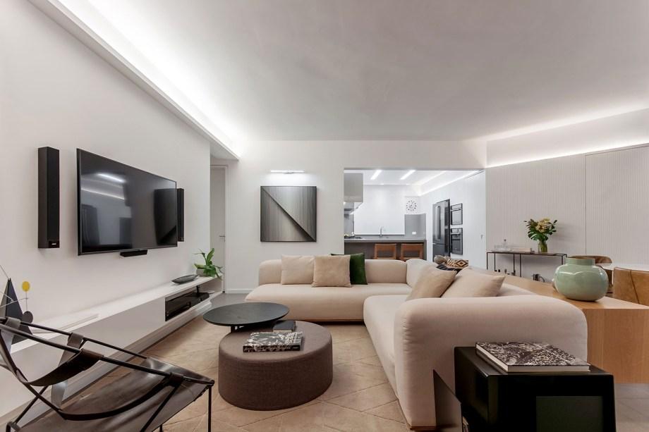 ambientes integrados com estetica minimalista e com tons claros casa.com estudio marion xavier 23 Vision Art NEWS