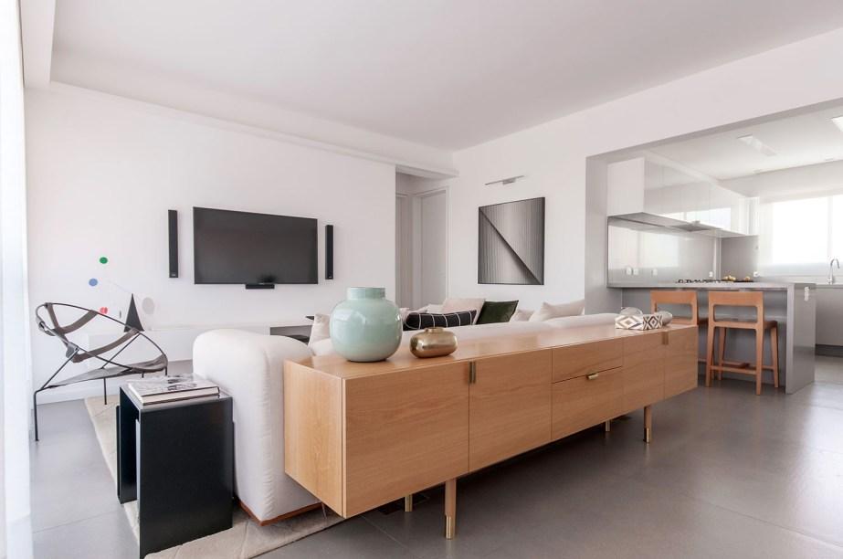 ambientes integrados com estetica minimalista e com tons claros casa.com estudio marion xavier 5 Vision Art NEWS