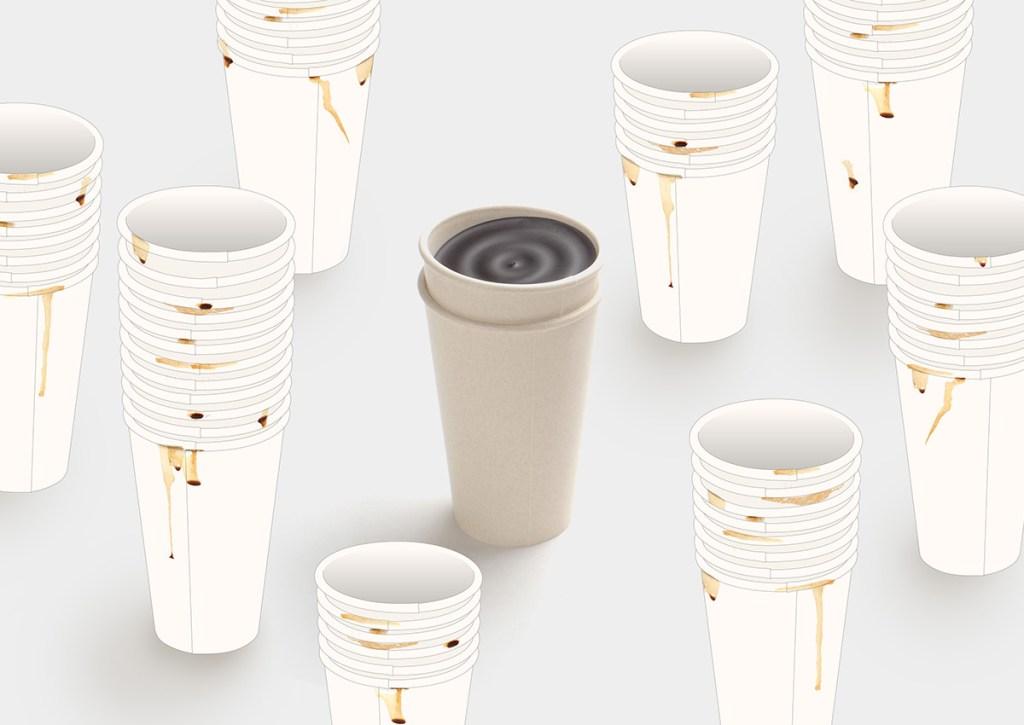 copos de cafe biodegradaveis nao derramam a bebida casa.com ilsangisang 1 Vision Art NEWS