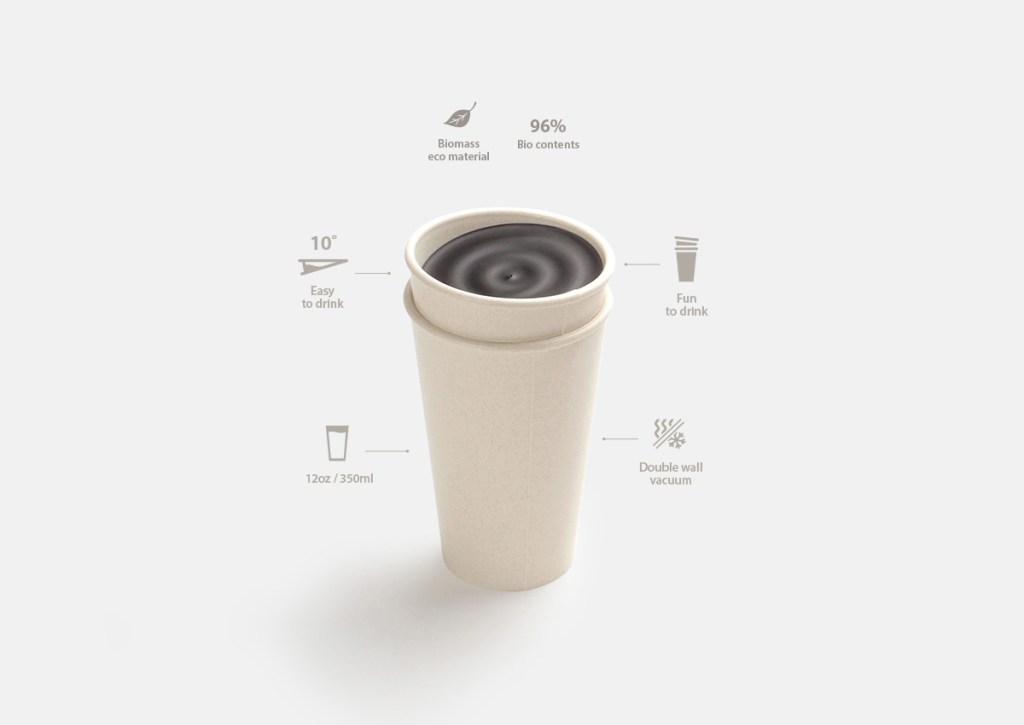 copos de cafe biodegradaveis nao derramam a bebida casa.com ilsangisang 2 Vision Art NEWS